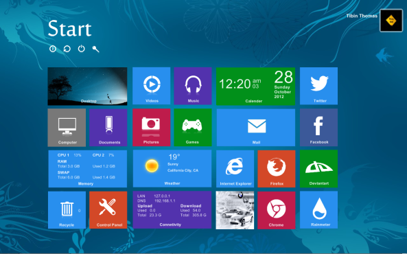 Почетни екран Windows 8